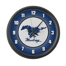 Mustang - Grunge Large Wall Clock