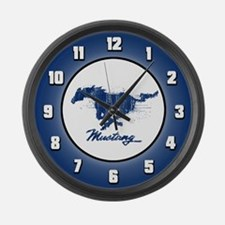 Mustang - Grunge Large Wall Clock