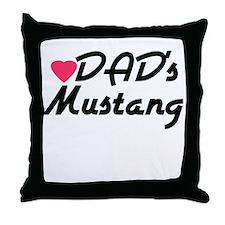 Dads Mustang Throw Pillow