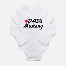 Dads Mustang Long Sleeve Infant Bodysuit
