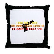 Monkey-Fightin' Snakes Throw Pillow