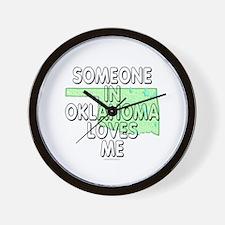 Someone in Oklahoma Wall Clock