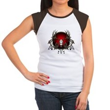 Deer skull with feathers Women's Cap Sleeve T-Shir