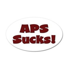 APS Sucks! 22x14 Oval Wall Peel