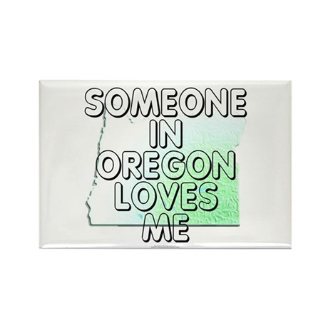 Someone in Oregon Rectangle Magnet (10 pack)