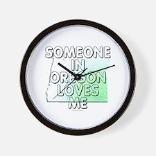 Someone in Oregon Wall Clock
