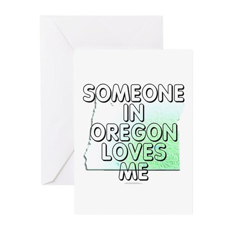 Someone in Oregon Greeting Cards (Pk of 20)