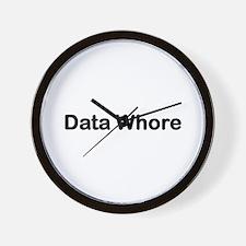 Data whore Wall Clock