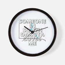 Someone in South Dakota Wall Clock
