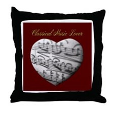 Classical Music Lover Throw Pillow