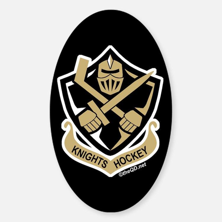 CA Knights Hockey Sticker (Oval)