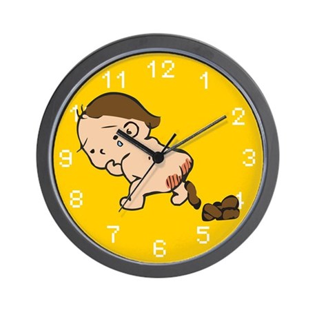 cool sad pooping baby clock