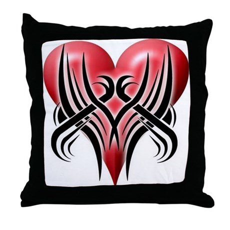 Big Red Throw Pillows : BIG RED HEART Throw Pillow by la_tees