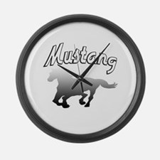 Cute Ford mustang Large Wall Clock