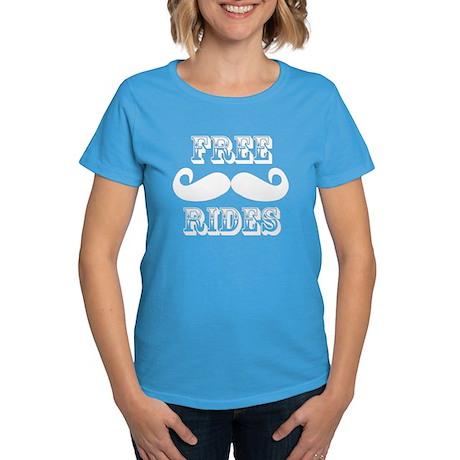 Free Mustache Rides Women's Dark T-Shirt
