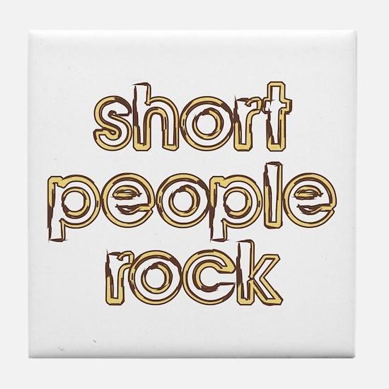 Short People Rock Tile Coaster