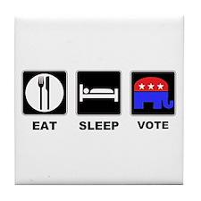 Eat Sleep Vote Conservative Tile Coaster