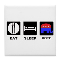 Eat Sleep Vote Conservative Tile Coaster
