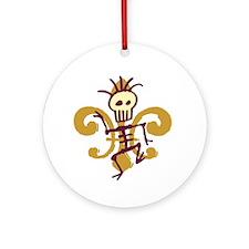 Funny Cajun Ornament (Round)
