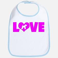 LOVE KERRY BLUE Bib