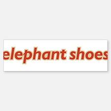 Elephant Shoes Bumper Bumper Bumper Sticker