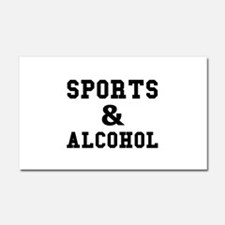 Sports And Alcohol Car Magnet 20 x 12