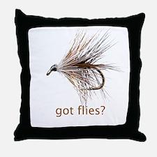 got flies? Throw Pillow