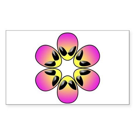 pink alien flower power Sticker