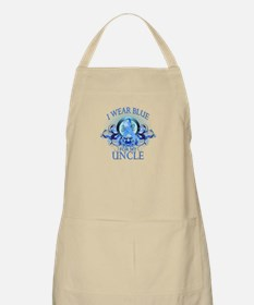I Wear Blue for my Uncle (floral) Apron
