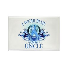 I Wear Blue for my Uncle (floral) Rectangle Magnet