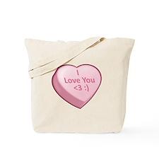 I Love You <3 :) Tote Bag