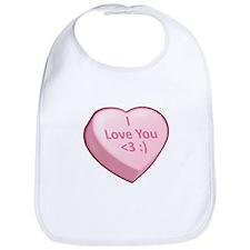 I Love You <3 :) Bib