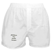 Rule 13 Never ever involve lawyers Boxer Shorts