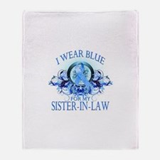 I Wear Blue for my Sister In Law (floral) Stadium