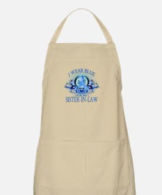 I Wear Blue for my Sister In Law (floral) Apron