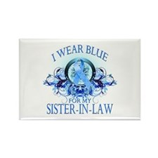 I Wear Blue for my Sister In Law (floral) Rectangl