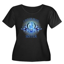 I Wear Blue for my Sister (floral) T
