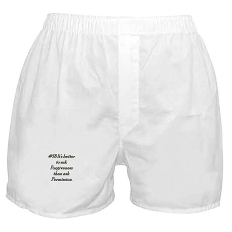 Rule 18 It's better to ask forgiveness Boxer Short