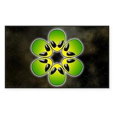 green alien flower power Decal