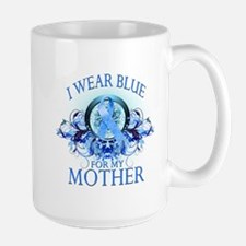 I Wear Blue for my Mother (floral) Mug