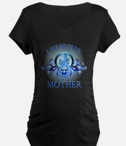 I Wear Blue for my Mother (floral) T-Shirt