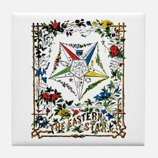 Vintage Eastern Star Signet Tile Coaster