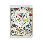 Vintage Eastern Star Signet Rectangle Magnet (100