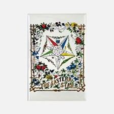 Vintage Eastern Star Signet Rectangle Magnet