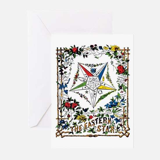 Vintage Eastern Star Signet Greeting Cards (Pk of