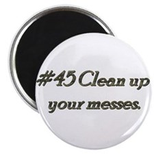 Rule 45 Clean up your messes Magnet