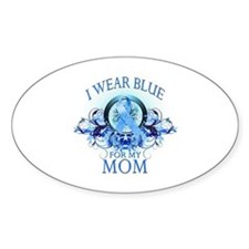 I Wear Blue for my Mom (floral) Decal