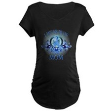 I Wear Blue for my Mom (floral) T-Shirt