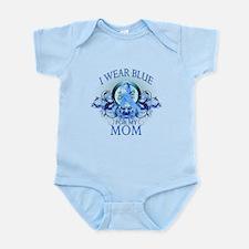 I Wear Blue for my Mom (floral) Infant Bodysuit