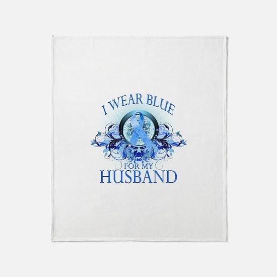 I Wear Blue for my Husband (floral) Stadium Blank